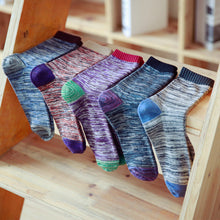 Load image into Gallery viewer, 5-Pack Colorful Crew Socks