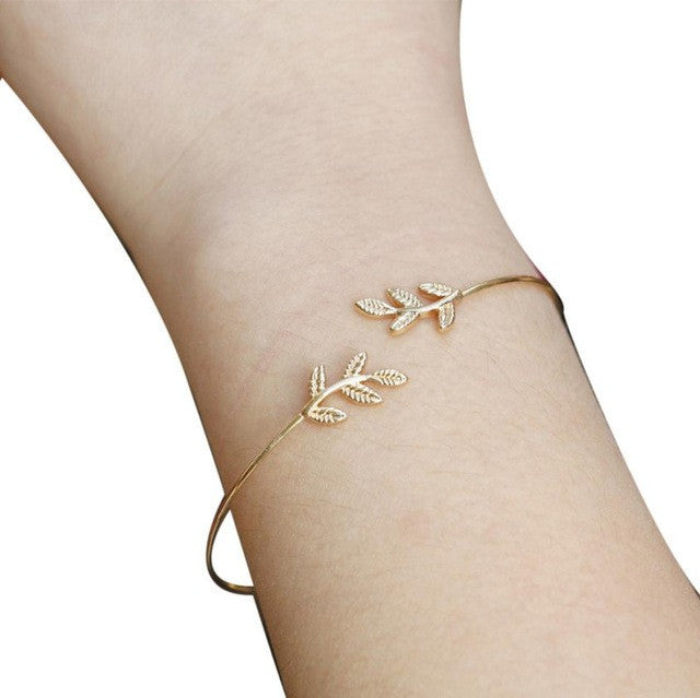 Simple Leaf Cut Off Bracelet