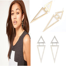 Load image into Gallery viewer, Vintage Geometric Big Triangle Earrings