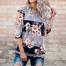 Load image into Gallery viewer, Off Shoulder Floral Top