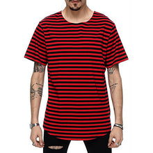 Load image into Gallery viewer, O-Neck Striped Streetwear Tee