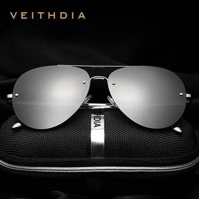 VEITHDIA Rimless Polarized  Sunglasses