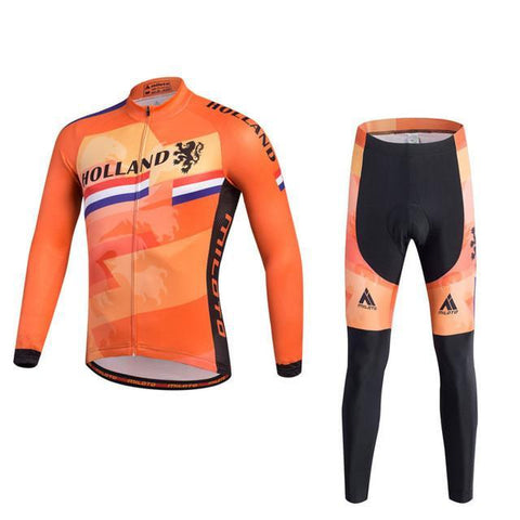 Holland Flag Pro Cycling Long Sleeves Set-Clothing-Bicycle Racing