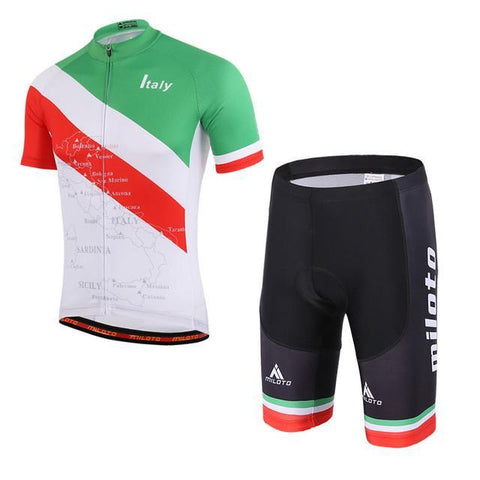 Italy Flag Pro Cycling Short Sleeves Set-Clothing-Bicycle Racing