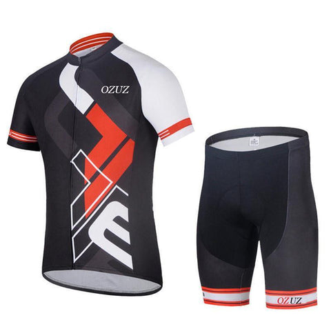 Red and Black Pro Cycling Short Sleeves Set-Clothing-Bicycle Racing
