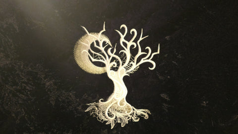 Baroque Ghost Tree Embroidery