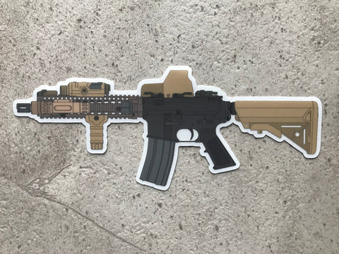 MK18 CQBR Clear Backed Sticker