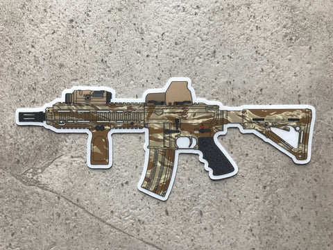 416 Desert Tiger Clear Backed Sticker