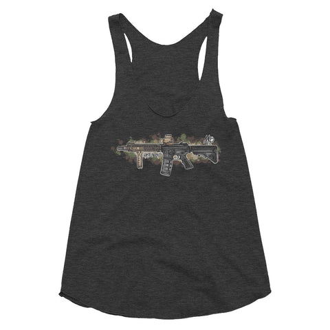 MK18 BlockII Graffiti (MC) Women's Tri-Blend Racerback Tank