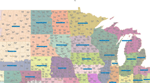 RealZips State Regions Maps