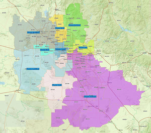 RealZips GeoData - Arizona Phoenix + Scottsdale Neighborhoods - by Zip