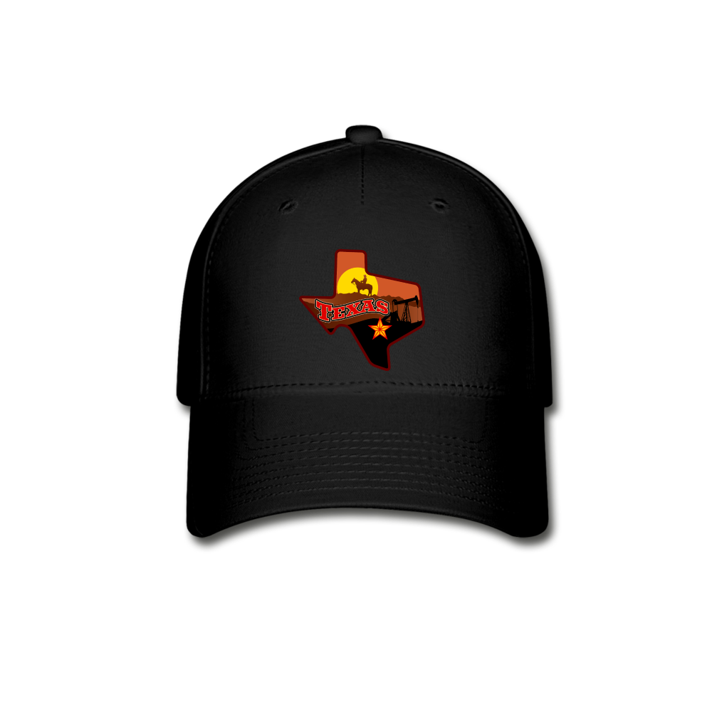 Texas Baseball Cap - black