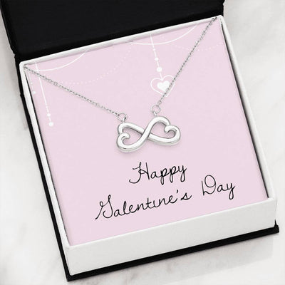 Happy V Day Infinity Hearts Necklace