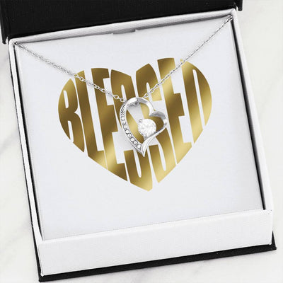 Blessed To Love you Heart Necklace