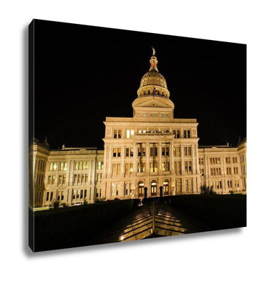 Gallery Wrapped Canvas, Capitol Of Texas In Austin At Night