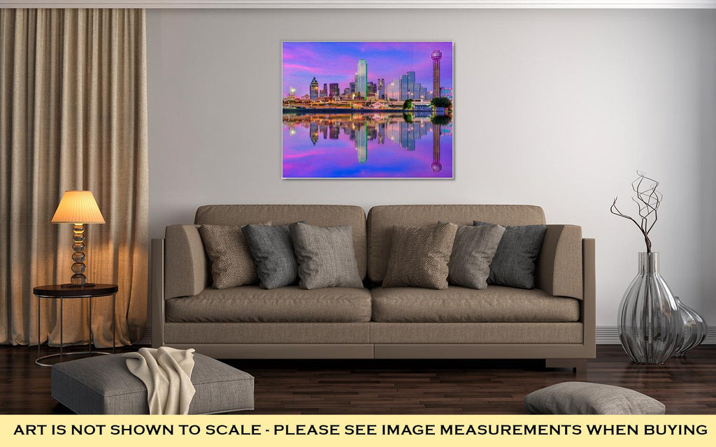 Gallery Wrapped Canvas, Dallas Texas USA Downtown City Skyline