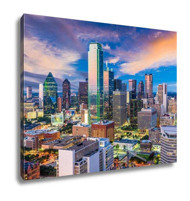 Gallery Wrapped Canvas, Dallas Texas Skyline