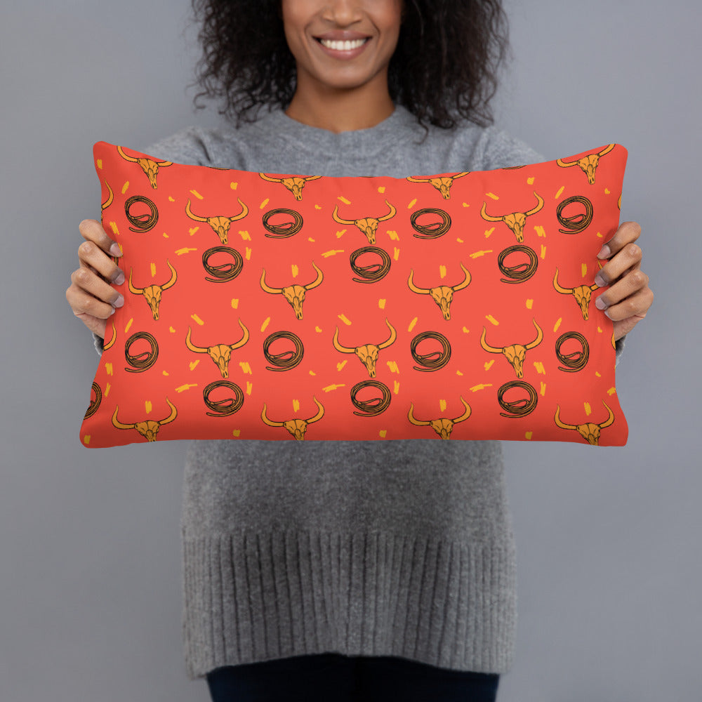 Texan Ox All-Over Print Basic Pillow Case