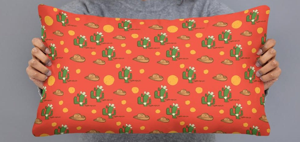 Texan Cactus Pillow Case