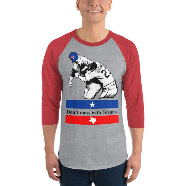 Don't Mess with Texans Baseball Raglan
