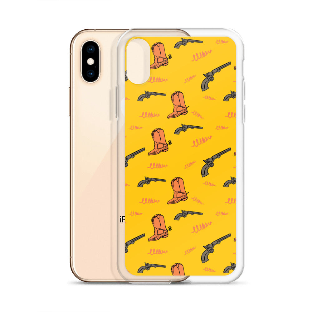 Texan Cowboy boots & Gun iPhone Case