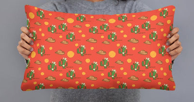 Texan Cactus All-Over Print Basic Pillow Case