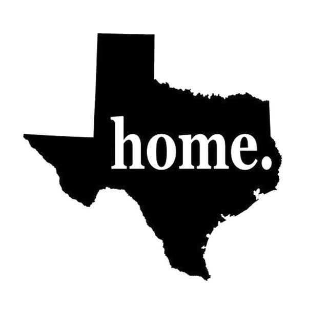 Texas Home Vinyl Decal
