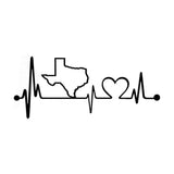 Texas Heartbeat Vinyl Decal