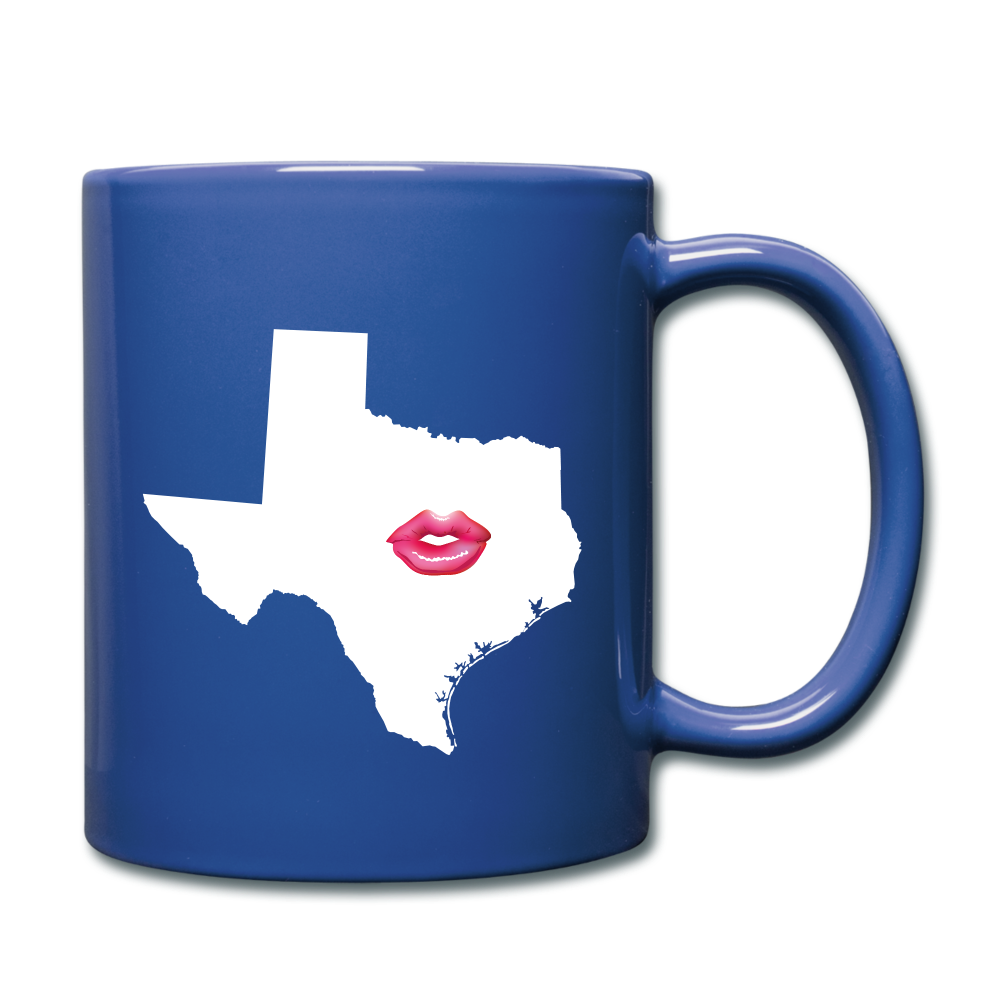 Texas Kiss  Mug - royal blue