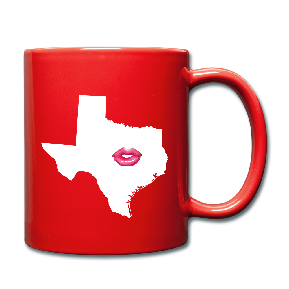 Texas Kiss  Mug - red