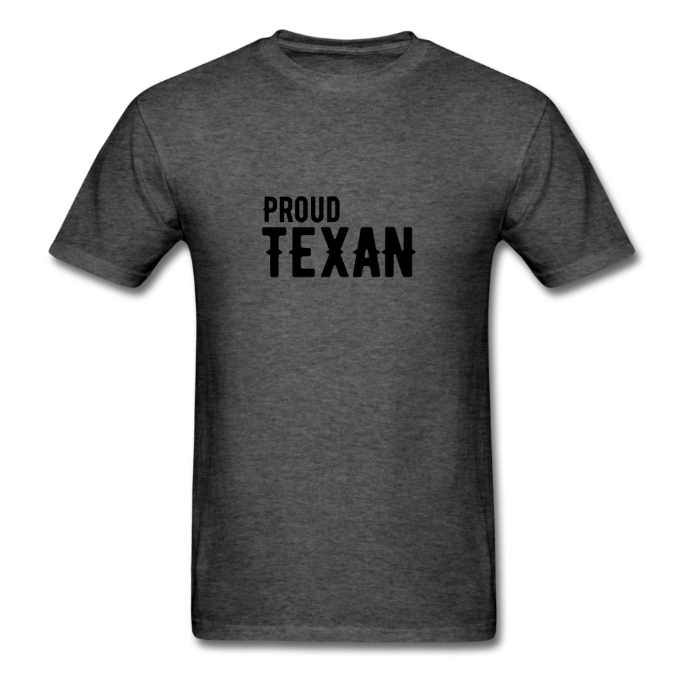 Proud Texan T-Shirt - heather black