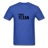 Proud Texan T-Shirt - royal blue