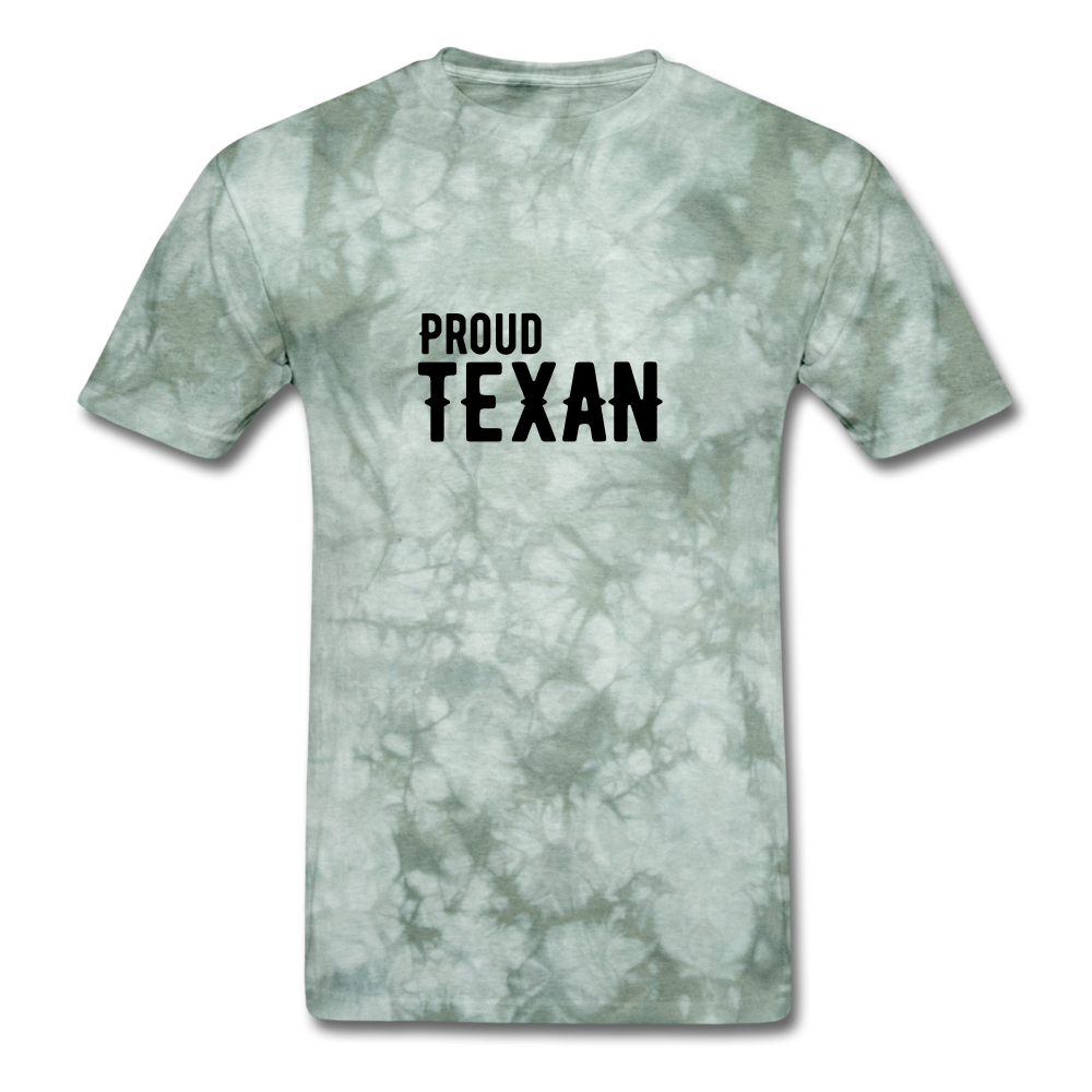 Proud Texan T-Shirt - military green tie dye