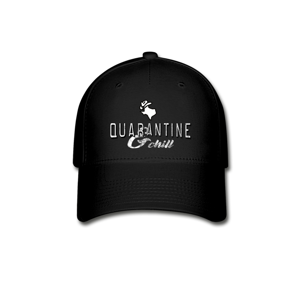 Quarantine & Chill Baseball Cap - black