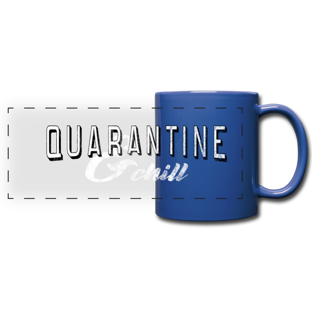 Quarantine & Chill Panoramic Mug - royal blue