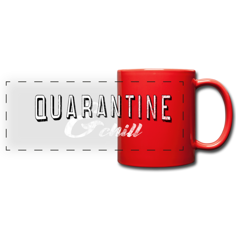 Quarantine & Chill Panoramic Mug - red
