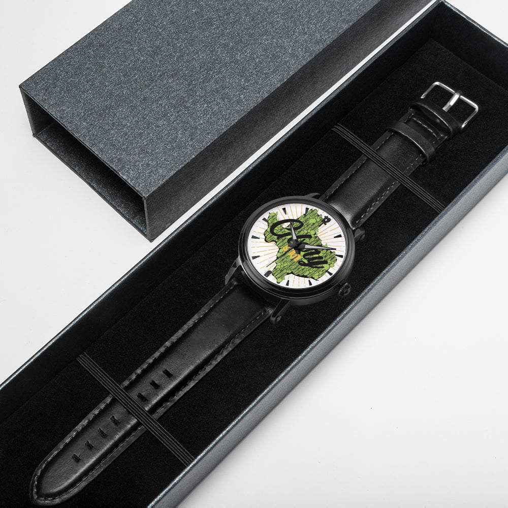 Unisex Cactus Texas Watch with Genuine Leather Strap