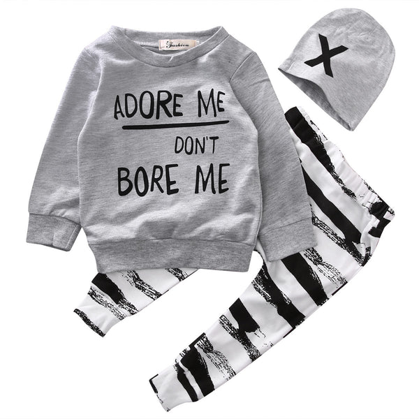 """Adore Me Don't Bore Me"" Toddler Outfit"