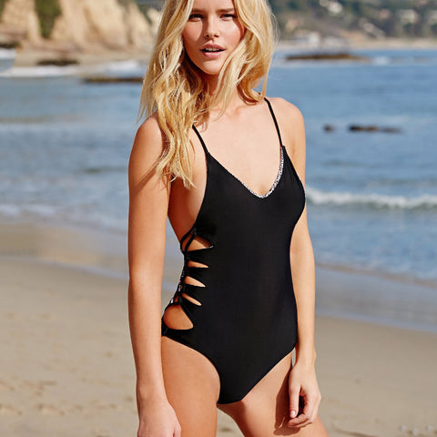 "Black & White ""Teigan"" One Piece Swimsuit"