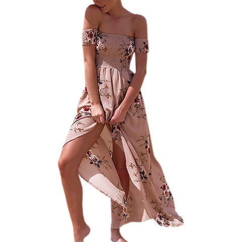 Summer Women's Floral Print Beach Dress