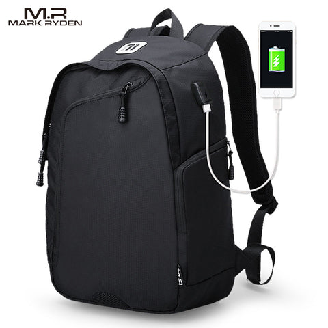Casual Backpack w/ USB Charging