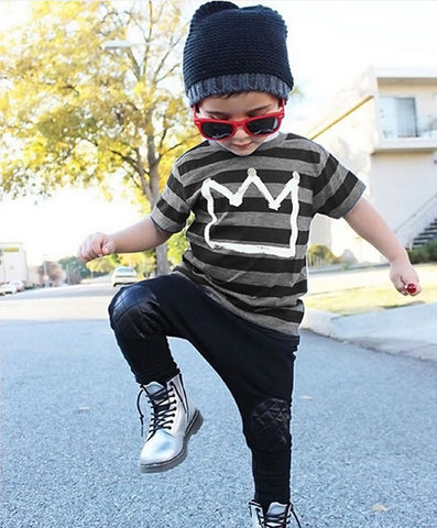 Crown Top Baby Boy Outfit