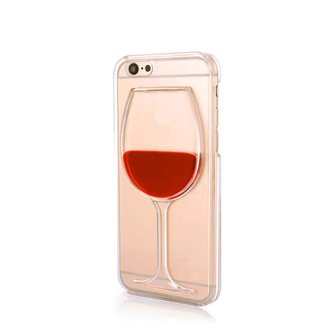 Wine Glass Transparent Case For iPhone