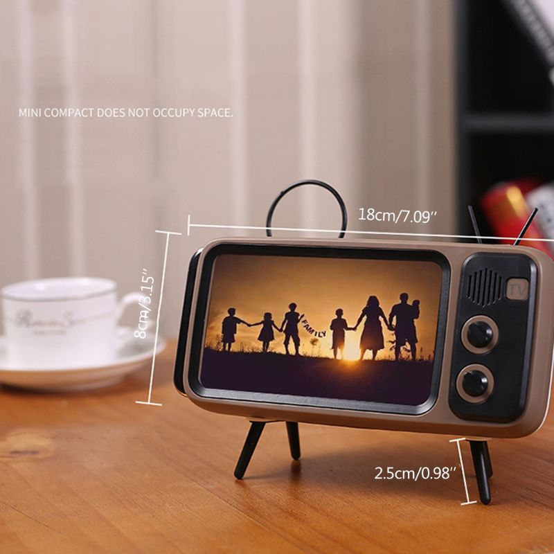 Retro TV Mobile Phone Screen Stand Cell Phone Mounts Holder for 4.7-5.5in mini Waterproo Mobile Phone Screen for Smart Phone - Tebo Tech