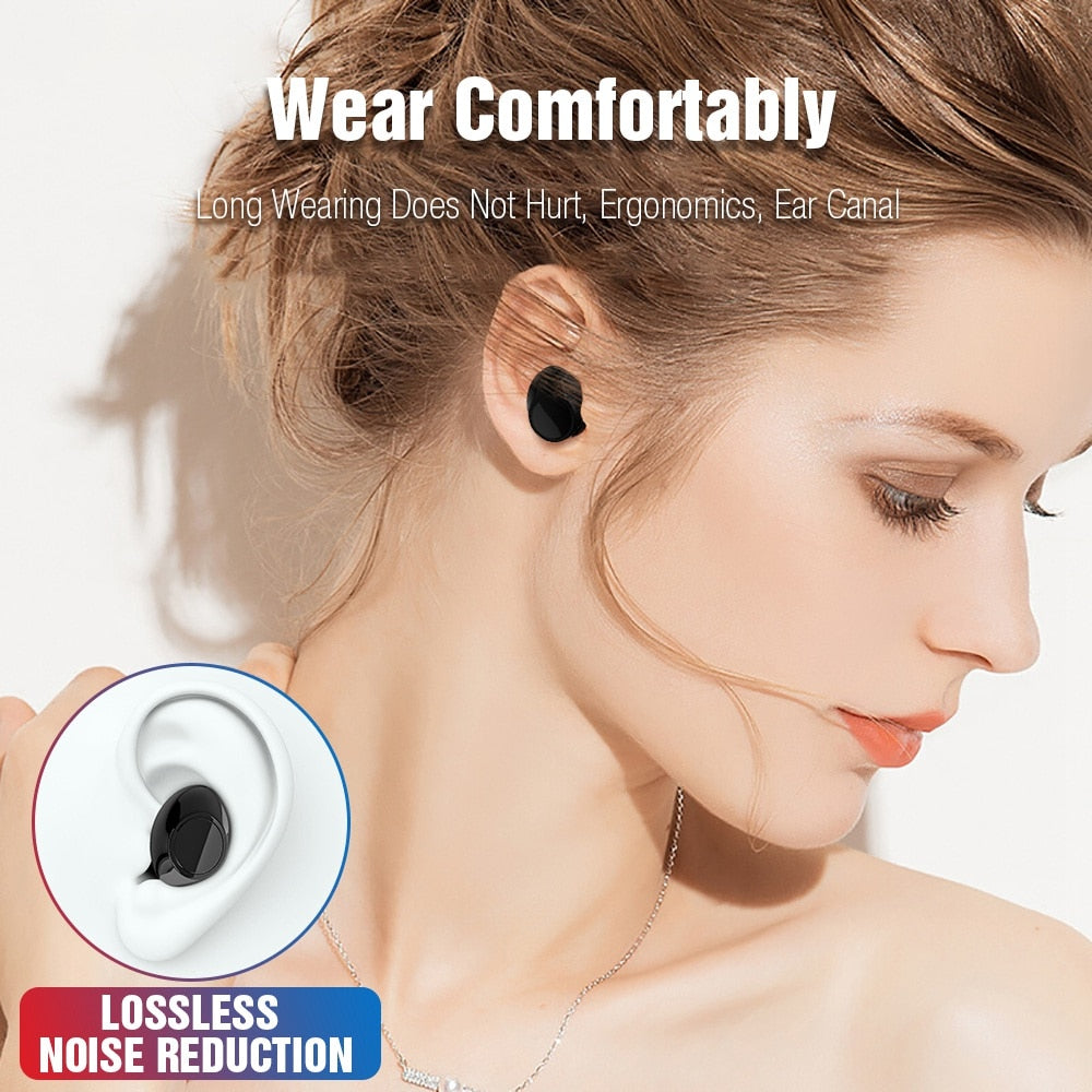 S7 Bluetooth TWS Earbuds Wireless Earphones Stereo Headset Bluetooth Earphone with Mic and Charging Box - Tebo Tech
