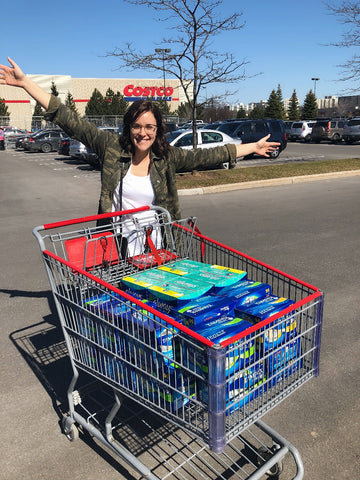 Over 900 tampons & 1000 pads to Mission Services