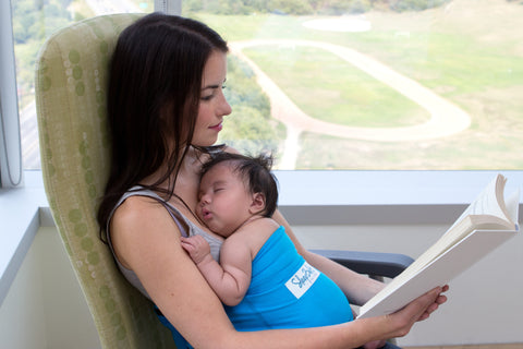 Sleepbelt Used To Help Provide Kangaroo Care For New Mother And Baby
