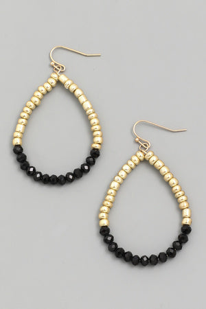 Faceted Bead Teardrop Earrings