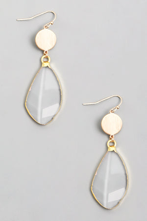 Clear Stone Drop Earrings