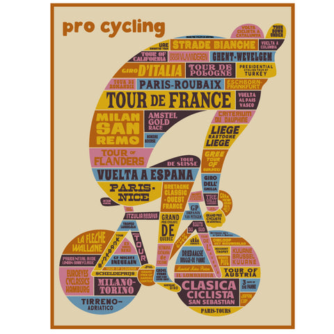 Pro Cycling Poster - EC17